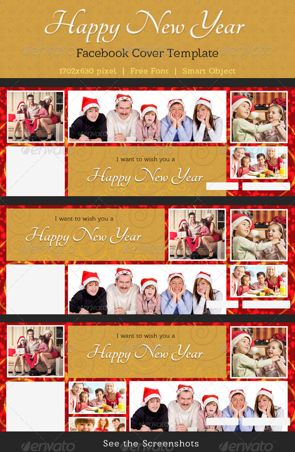 GraphicRiver Happy New Year Wishing Facebook Timeine Cover Pack 6473172