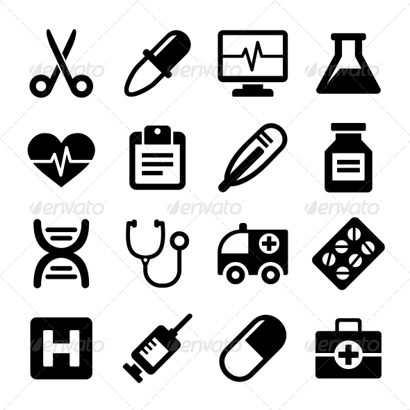 GraphicRiver Medical Icons Set 6473225