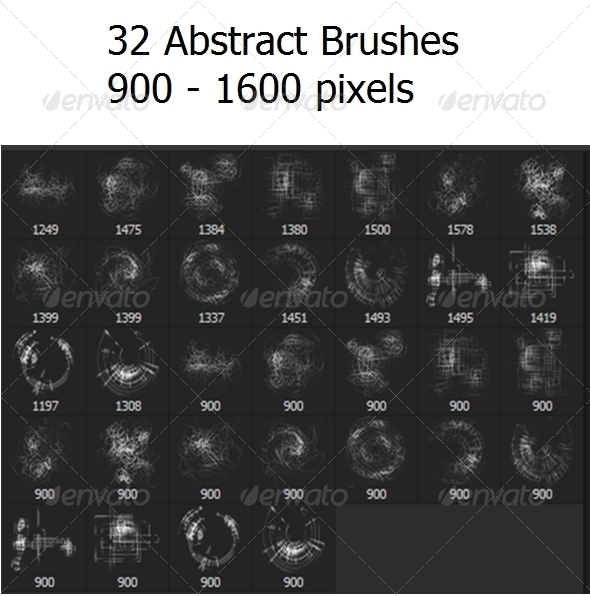 GraphicRiver 32 Abstract Brushes 6473270