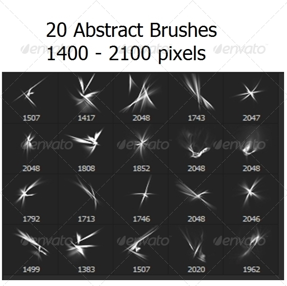 GraphicRiver 20 Abstract Brushes 6473462