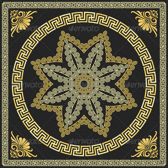 GraphicRiver Vector Gold Greek Ornament 6473473