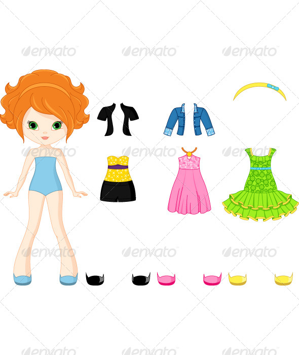 GraphicRiver Paper Doll with Clothing 6473663