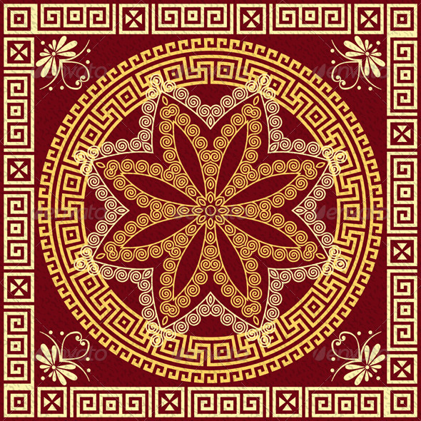Vector Gold Greek Ornament