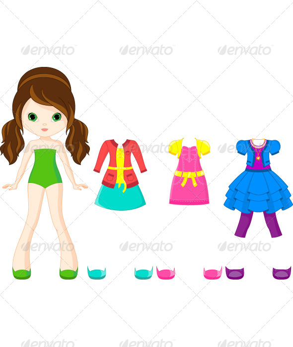 GraphicRiver Paper Doll with Clothing 6473754