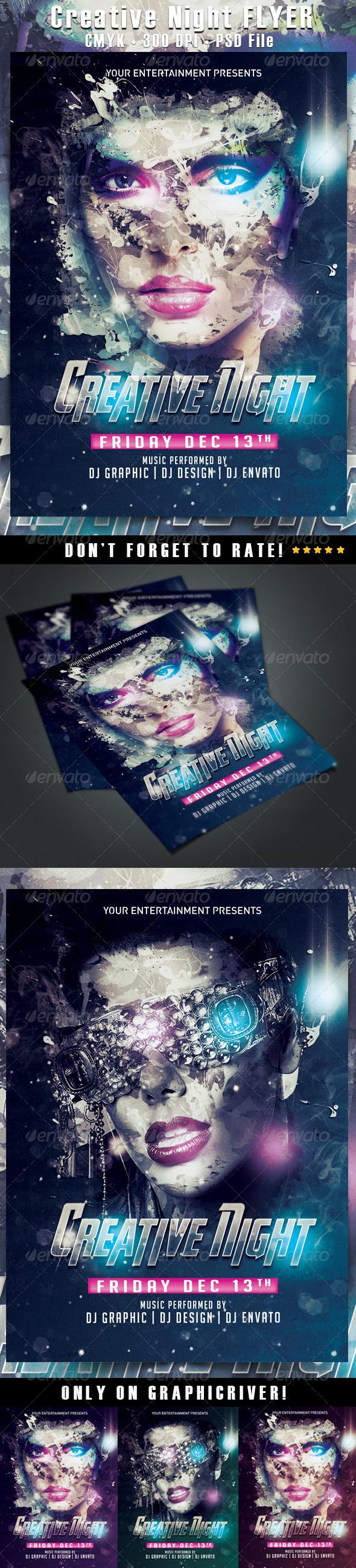 GraphicRiver Creative Night Flyer 6473904