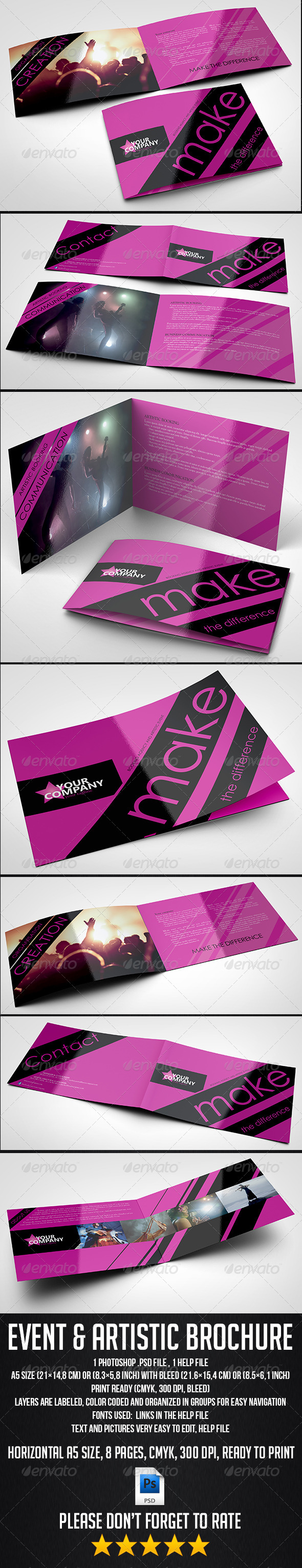GraphicRiver A5 8 Pages Event and Artistic Brochure 6473952