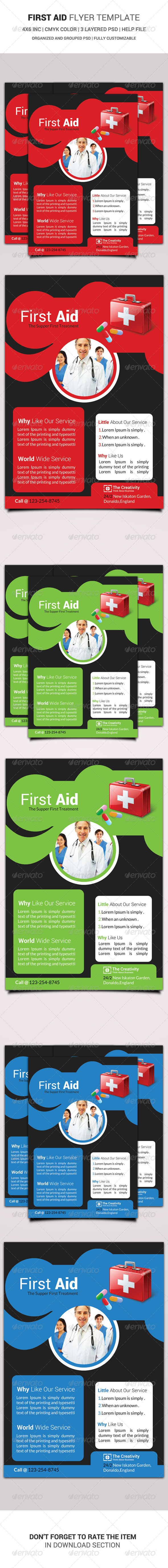 GraphicRiver First Aid Flyer Template 6473985