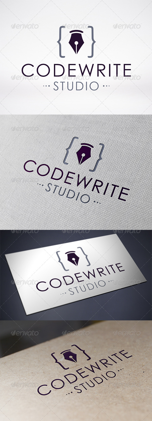 GraphicRiver Code Writer Logo Template 6473986