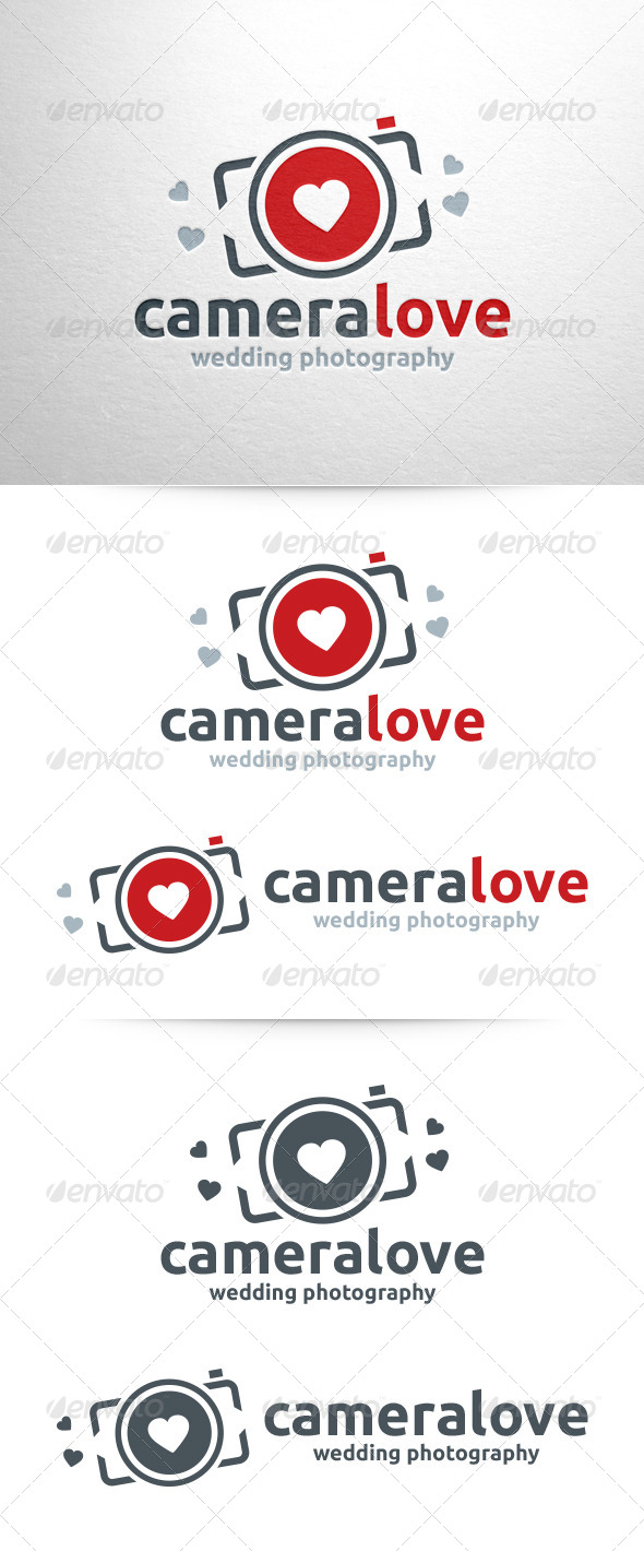 GraphicRiver Camera Love Photography Logo 6474024