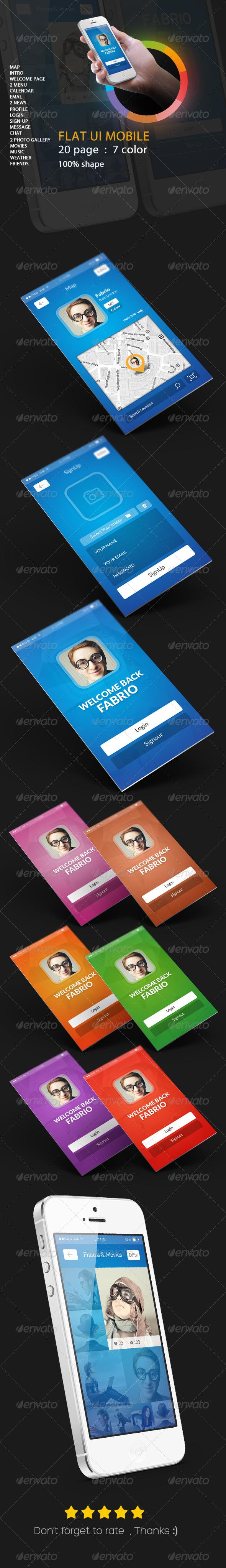 GraphicRiver UI Mobile Falt App 6474053