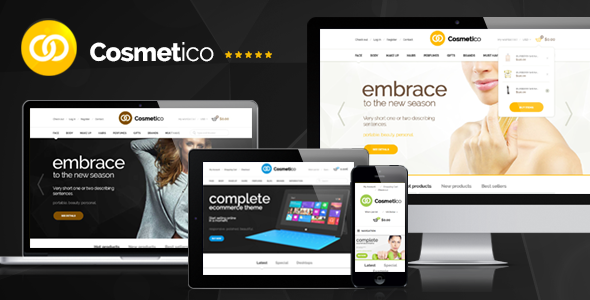 ThemeForest Cosmetico Responsive OpenCart Template 6474074