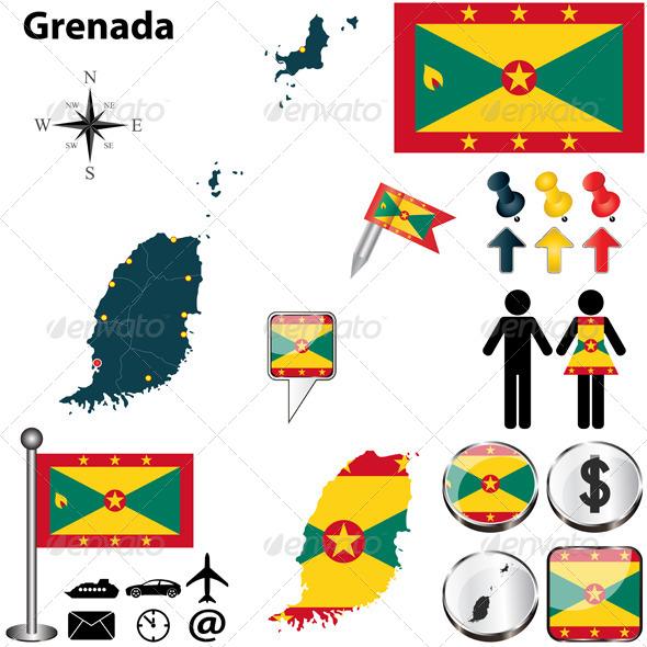 GraphicRiver Map of Grenada 6474098