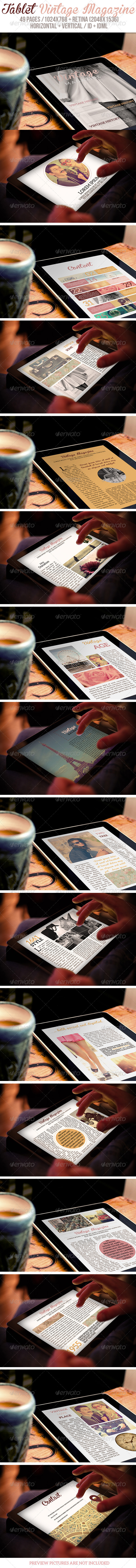 GraphicRiver Tablet Vintage Magazine 6474325
