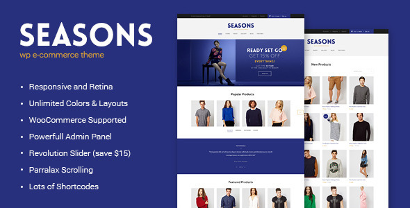ThemeForest Seasons WordPress eCommerce Theme 6474463