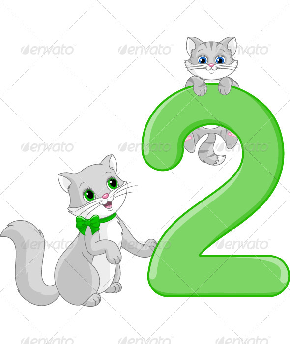 GraphicRiver Number Two and Two Cats 6474722