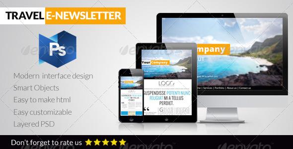 GraphicRiver Travel E-Newsletter 6474748