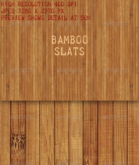 GraphicRiver Bamboo Slatted Mat Texture 6474793