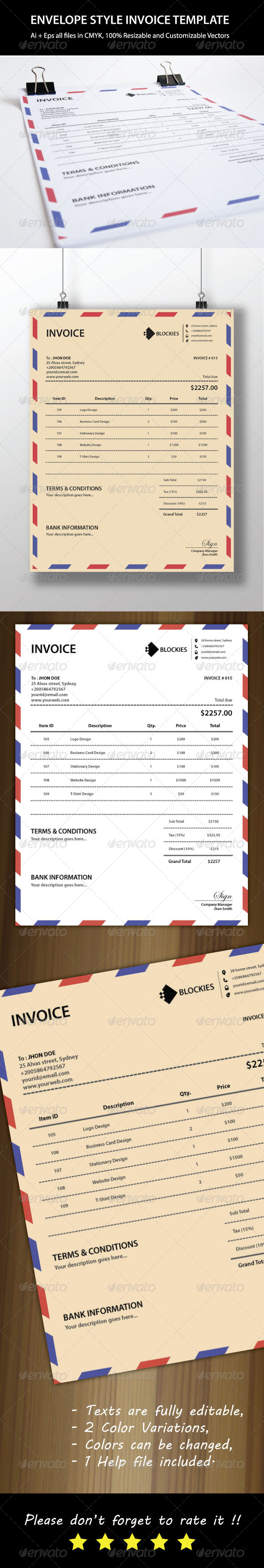 GraphicRiver Mail Invoice Template 6475149