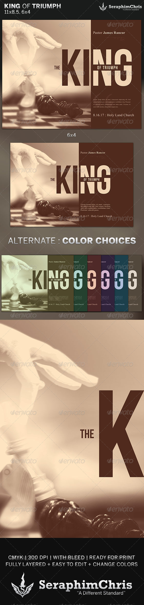 GraphicRiver King of Triumph Church Flyer Template 6475568