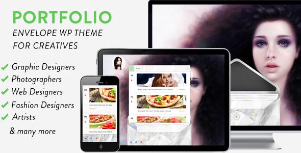 ThemeForest Envelope Portfolio WordPress Theme for Creatives 6135338