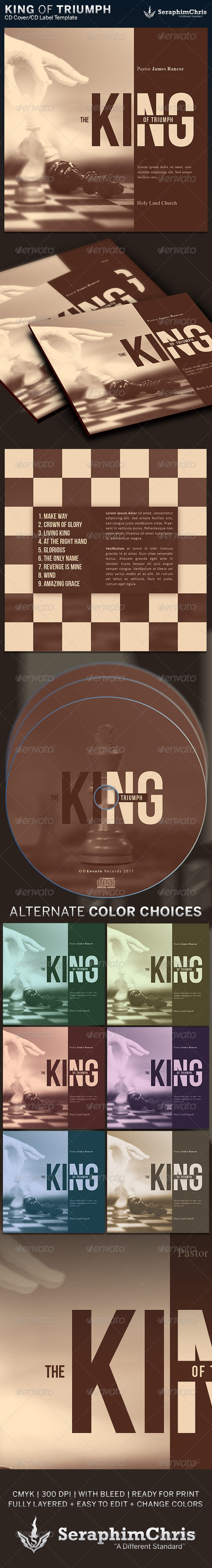GraphicRiver King of Triumph CD Cover Artwork Template 6475736