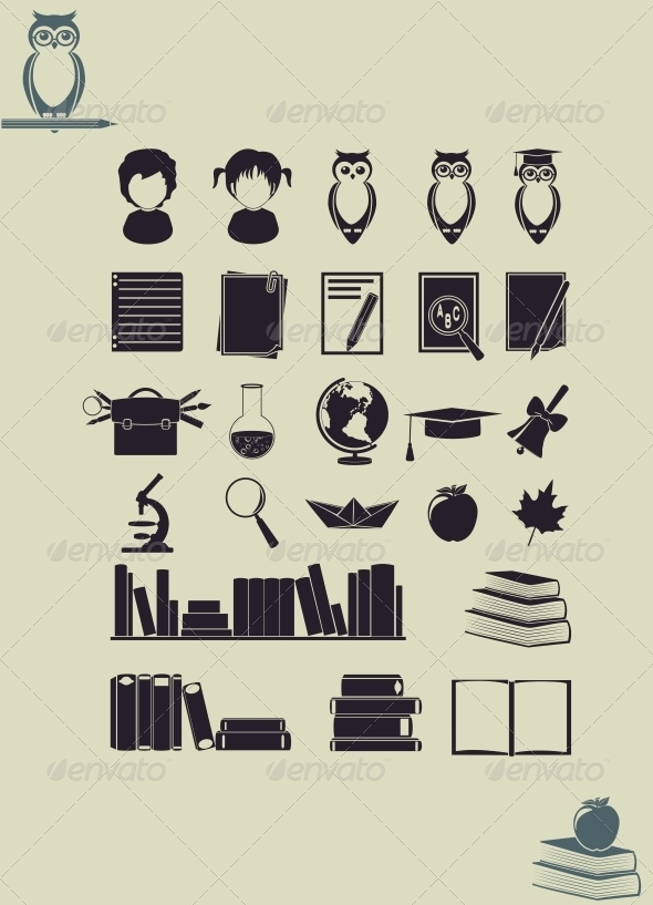 GraphicRiver Education Icons 6475765