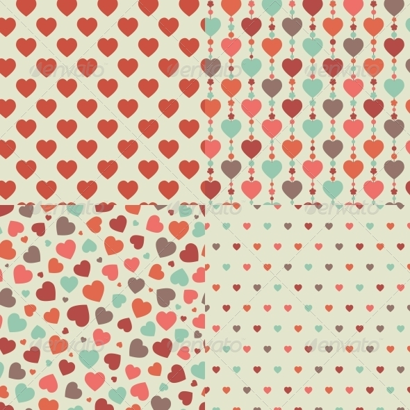 GraphicRiver Heart Seamless Pattern 6475790
