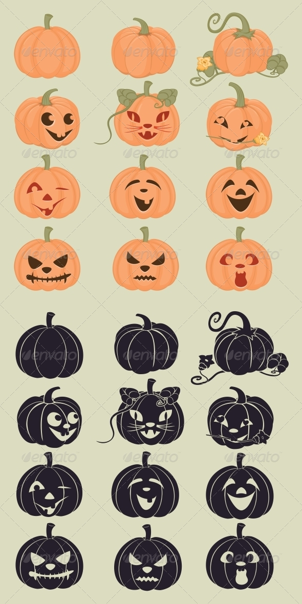 GraphicRiver Pumpkins Icons 6475792