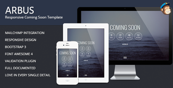 ThemeForest Arbus Coming Soon Responsive Template 6475800
