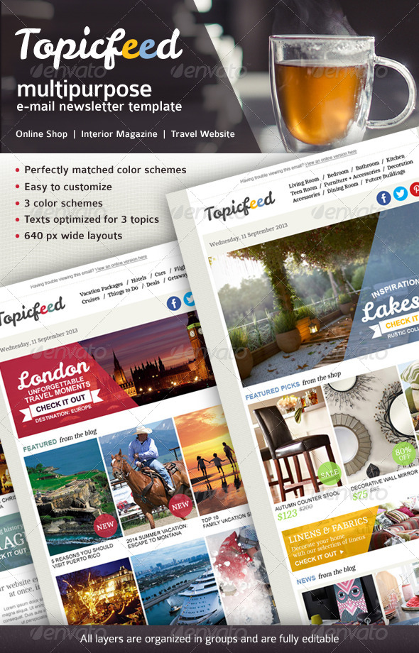 GraphicRiver Topicfeed Multiporpose E-mail Newsletter 6475820