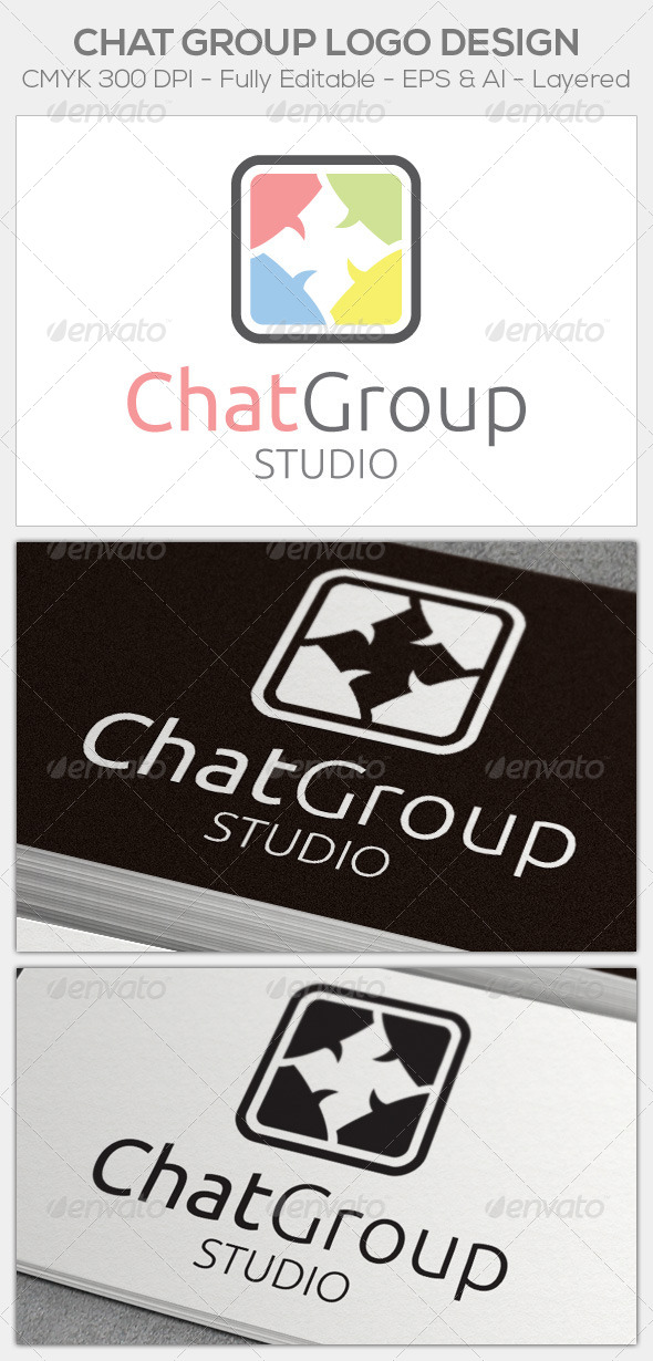 GraphicRiver Chat Group Logo 6475827
