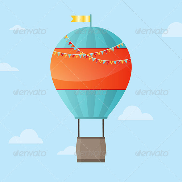GraphicRiver Air Balloon Background 6475829