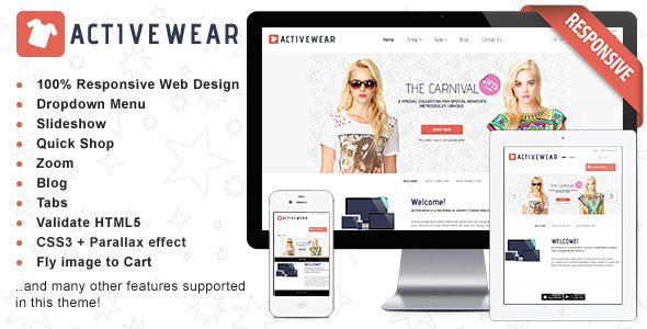 ThemeForest Responsive HTML Theme ActiveWear 6476021