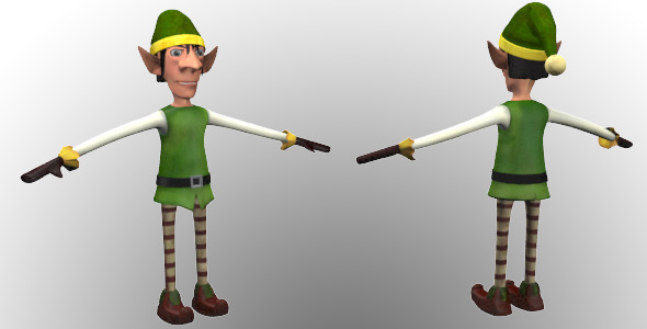 Christmas Elf - 3DOcean Item for Sale