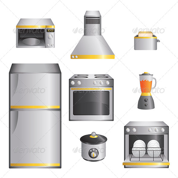 GraphicRiver Kitchen Appliances 6476109