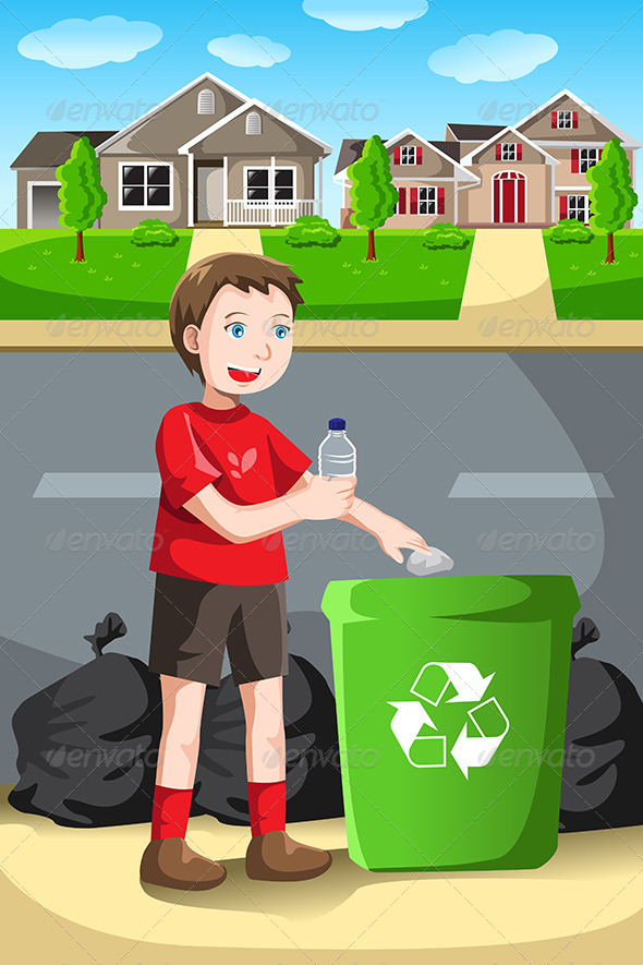 GraphicRiver Recycling Kid 6476209