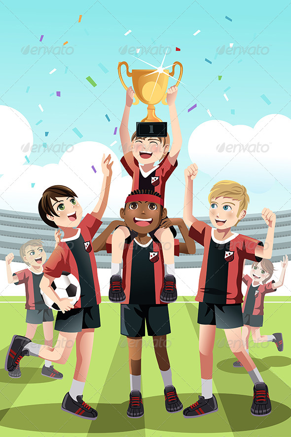 GraphicRiver Soccer Team Winning 6476255