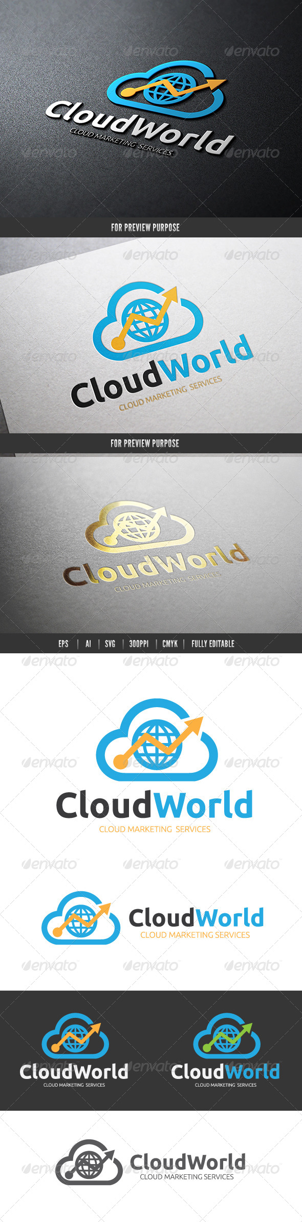 GraphicRiver Cloud Marketing World 6476260
