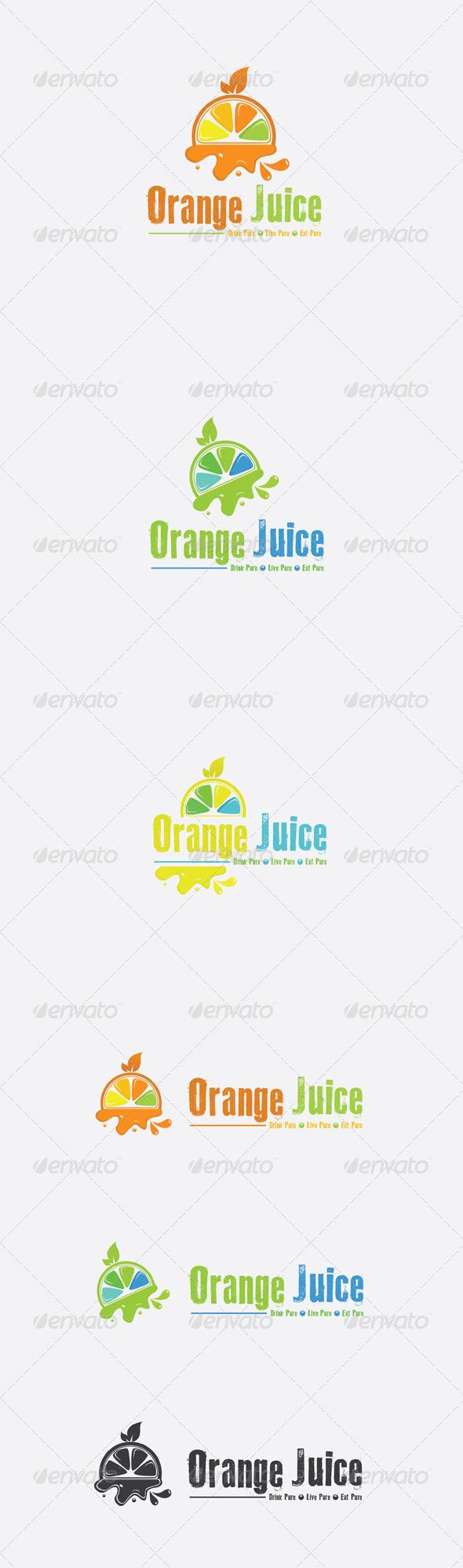 GraphicRiver Orange Juice Logo 6476298