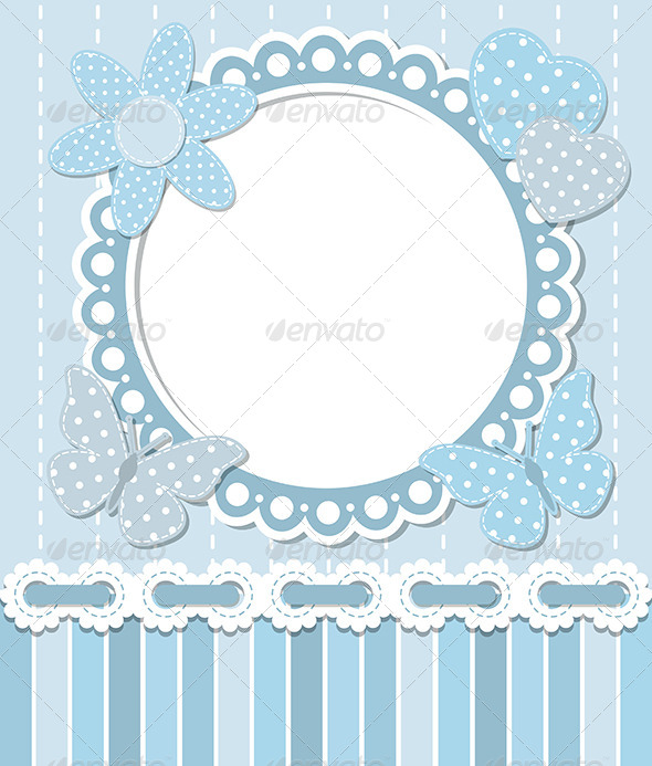 GraphicRiver Scrapbook Blue Frame 6476653