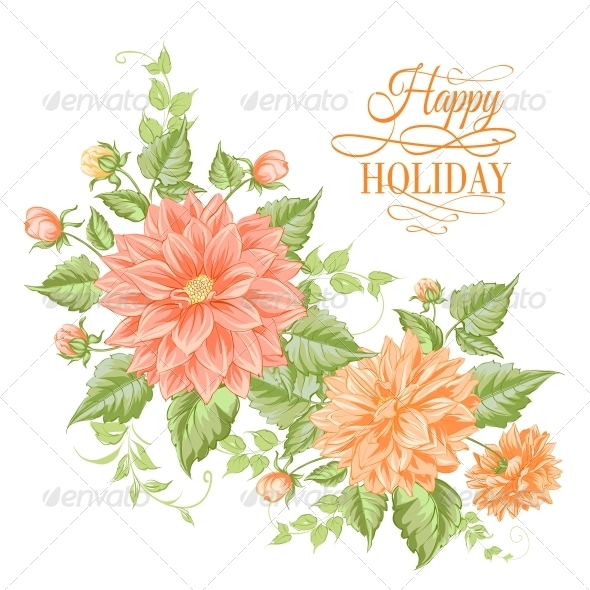 Chrysanthemum Holiday Card