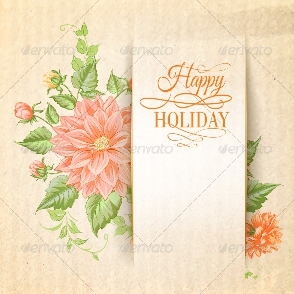 GraphicRiver Chrysanthemum Holiday Card 6477014