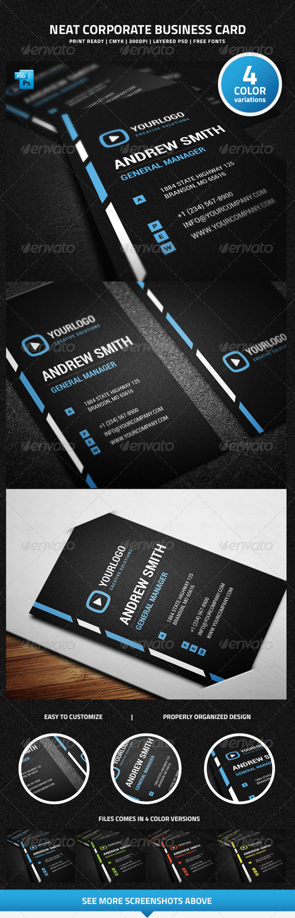 GraphicRiver Neat Corporate Business Card 6477201