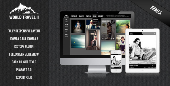 World Travel II - Responsive Joomla Template - Joomla CMS Themes