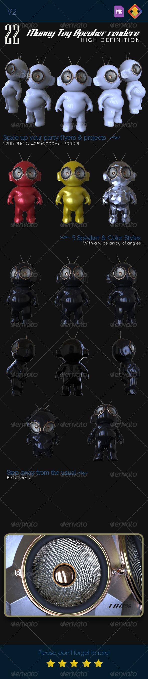 GraphicRiver Munny Toy Speakers V.2 6477235
