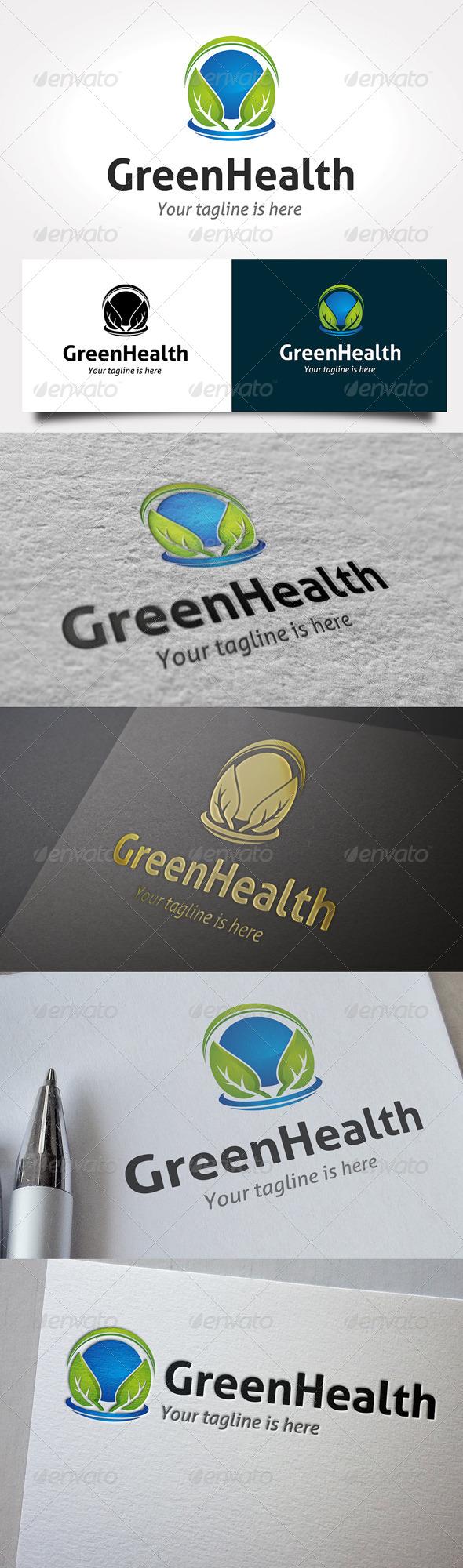 GraphicRiver Green Health Logo 6477236