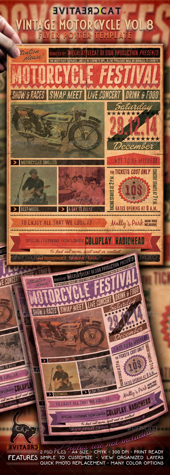 GraphicRiver Vintage Motorcycle Flyer Poster Vol 8 6477243