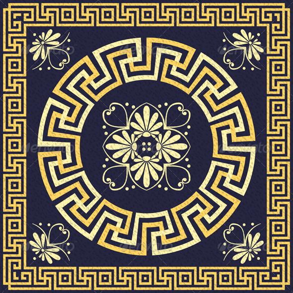 GraphicRiver Vector Vintage Gold Greek Ornament 6477257