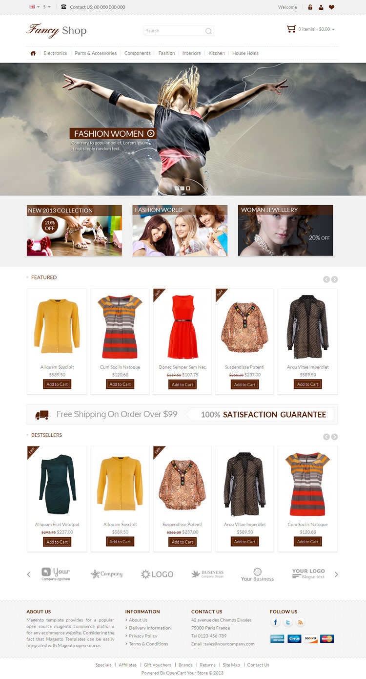 Fancy Shop - Opencart Responsive Theme