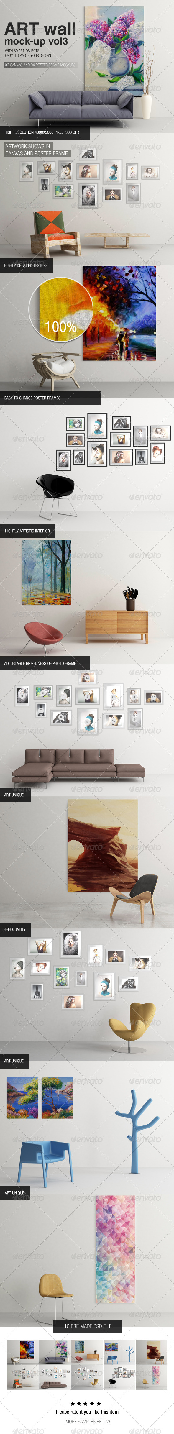 GraphicRiver Art Wall Mock-up Vol.3 6477368